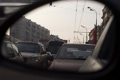 В центре Подольска образовалась почти трехкилометровая пробка