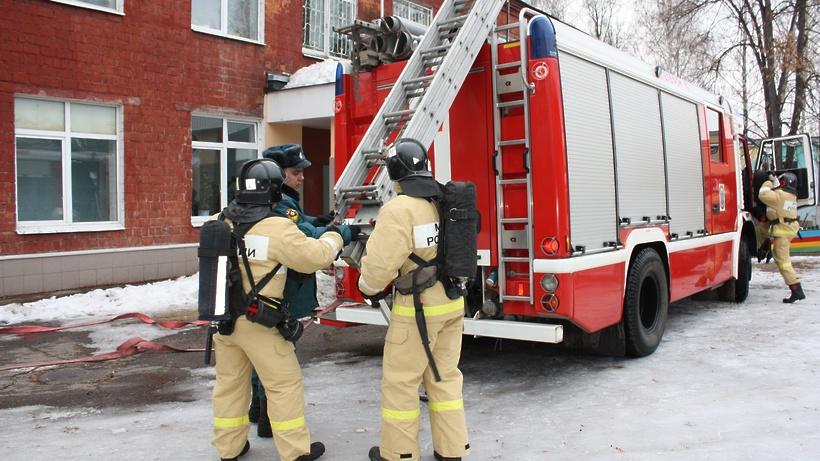 Пожар устранили в личном доме вВеледниково