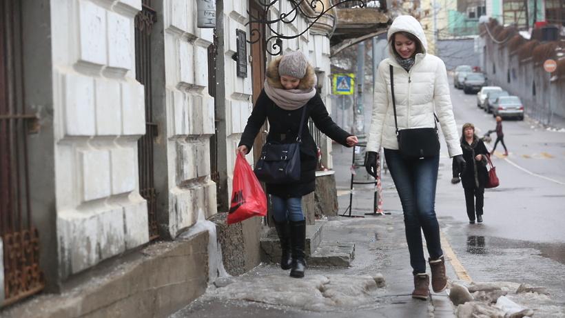 В столицуРФ идет очередной ледяной дождь
