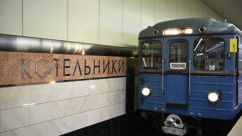 Поезда на«фиолетовой» ветке московского метро ходят сувеличенными интервалами