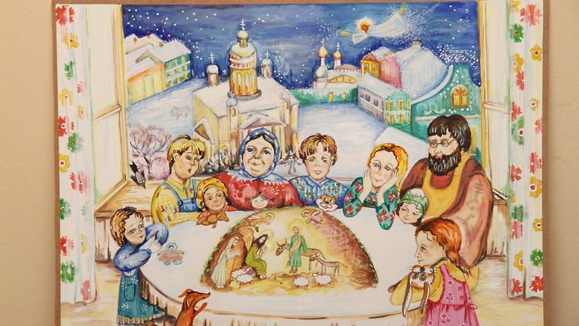 Рождественская открытка рисунок своими руками