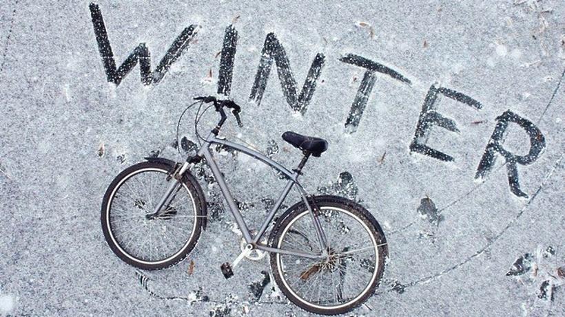 Смешные картинки про велосипедистов зимой
