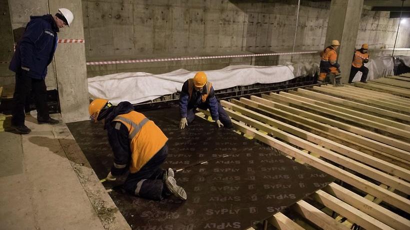 Строительство станции метро «Петровский парк» ТПК окончено на60%