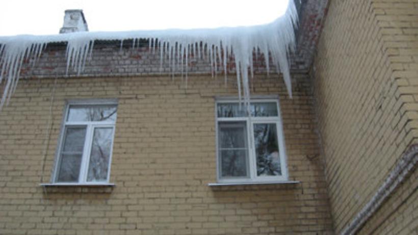Около магазина в российской столице глыба льда рухнула наребёнка