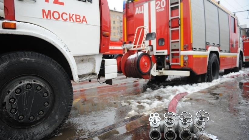В столице России назаводе произошел пожар