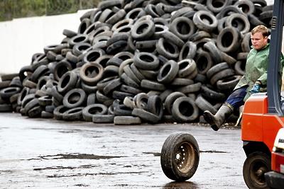 Жители Балашихи сдали более 600 тонн старых автошин с начала года