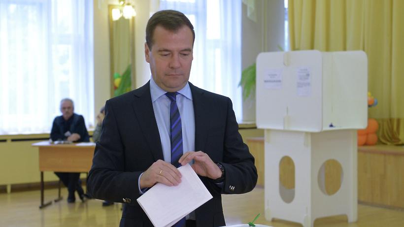 Медведев невидит себя кандидатом впрезидентыРФ