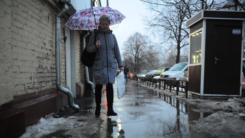 Мокрый снег исильная гололедица ожидаются в столицеРФ