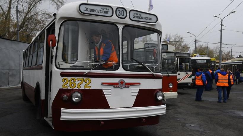 В столицеРФ состоится пробег троллейбусов