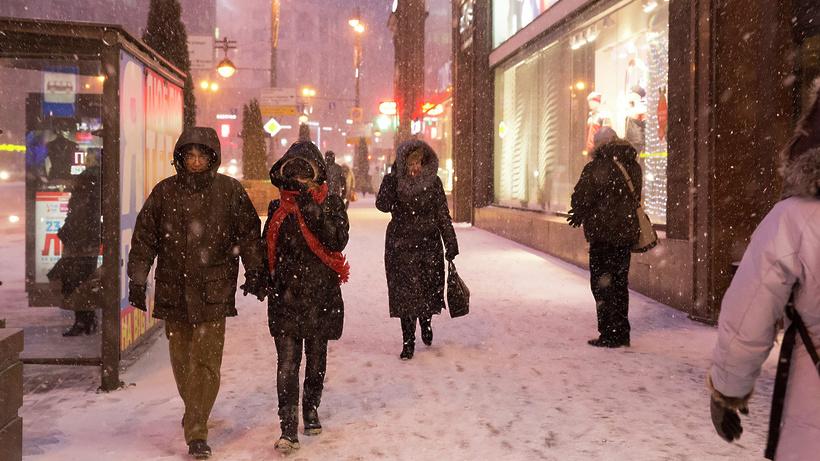 МЧС: В российской столице ожидаются сильный снегопад, метель игололедица