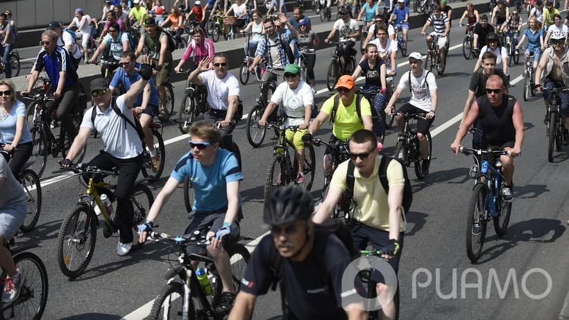 Велопарад в столицеРФ собрал рекордное число участников