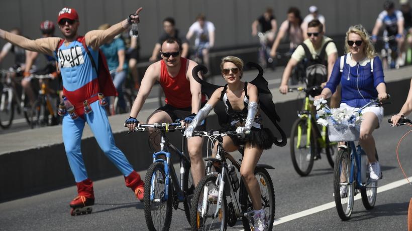 Около 40 тысяч человек примут участие воВсероссийском велопараде вМоскве