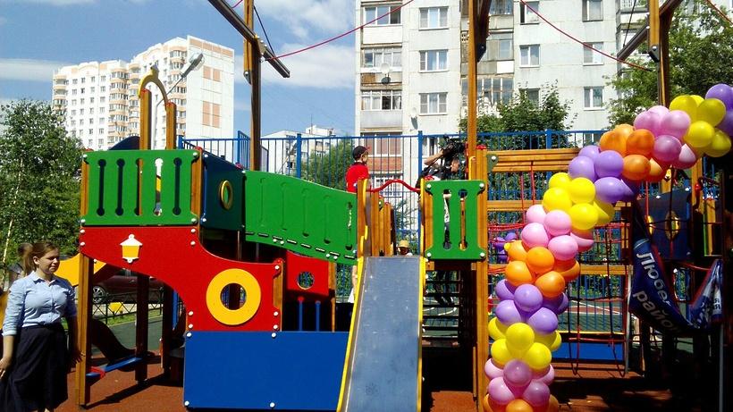 «Президентскую» детскую площадку открыли вЛюберцах