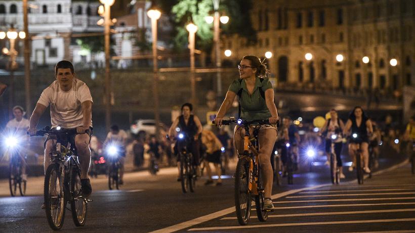 Ночной велопарад состоится в российской столице 8июля