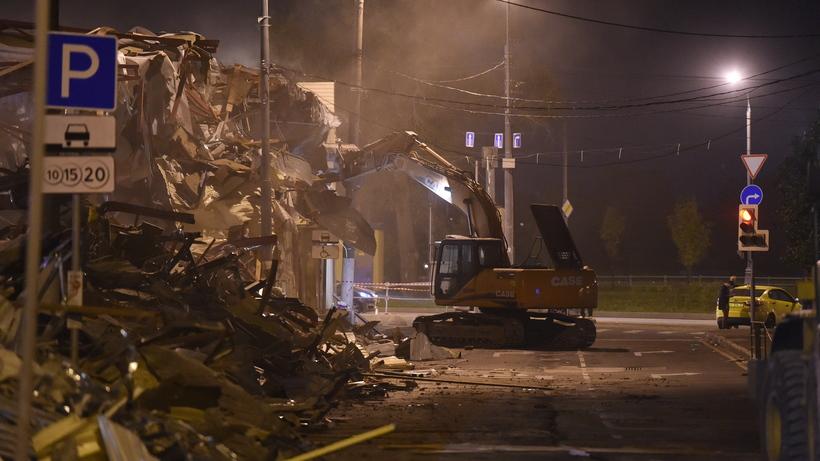 Практически 100 объектов самостроя было демонтировано встолице минувшей ночью