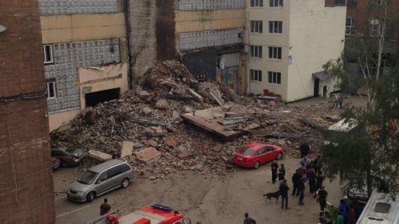 В российской столице наВолгоградском проспекте обрушилось пятиэтажное сооружение