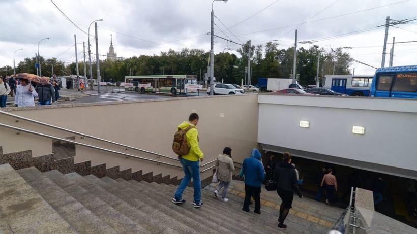 Подземный переход уметро «Университет» даст возможность неопасно перейти дорогу— Собянин