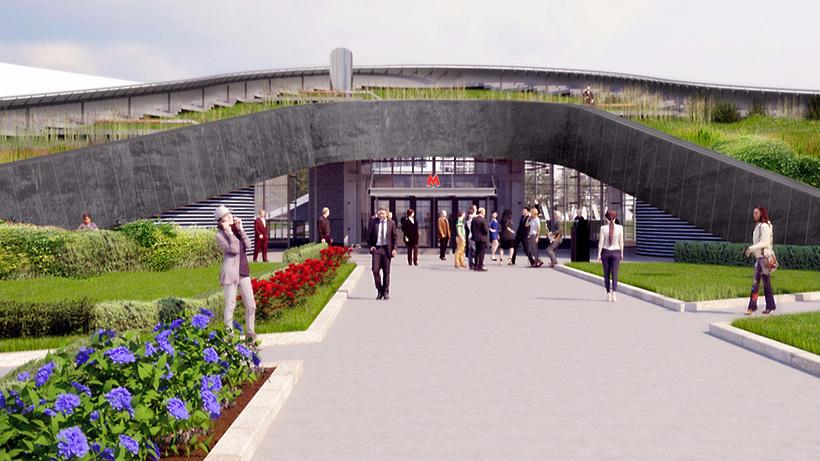 Устанции метро «ЦСКА» вСАО появятся лавочки накрыше