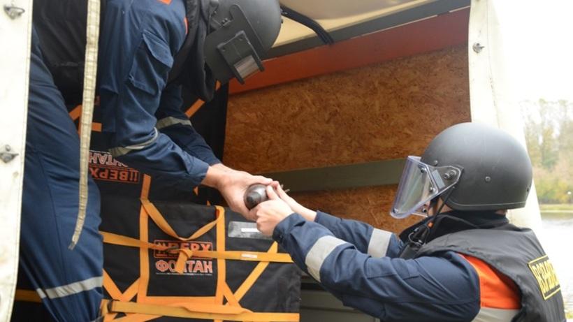Стройку наюго-западе столицы оцепили из-за найденного снаряда