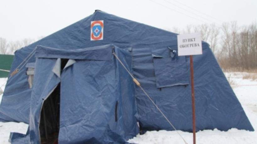 Работники МЧС организовали круглосуточный пункт обогрева для автомобилистов в новейшей столицеРФ