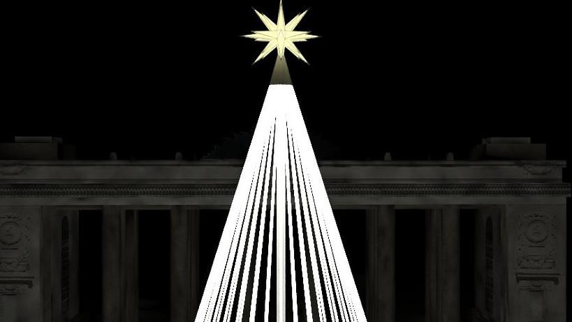 Монтаж новогодней композиции с27-метровой елью начался наВДНХ