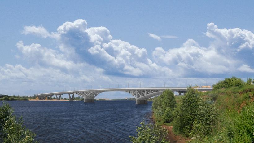 Мост через Волгу вДубне откроют для движения транспорта через год