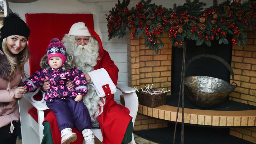 Дедушка Мороз исполняет желания иищет Снегурочку вКременчуге