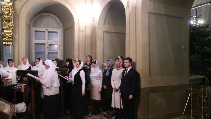 Воробьев встретил Рождество наслужбе вНоводевичьем монастыре