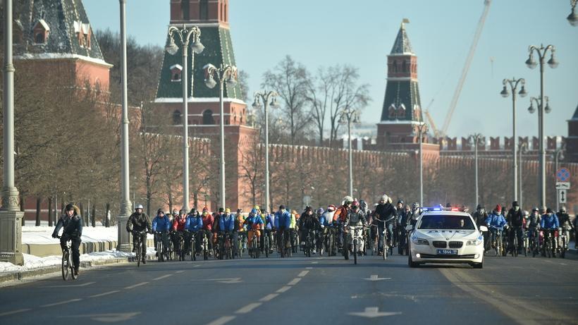 Улицы вцентре столицы перекроют из-за зимнего велопарада