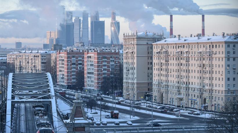 Прошедшая ночь в российской столице была абсолютно не весенняя