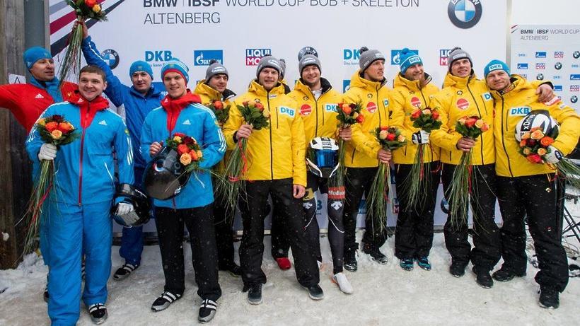Четверка Александра Касьянова заняла 2-ое место наэтапе Кубка мира побобслею