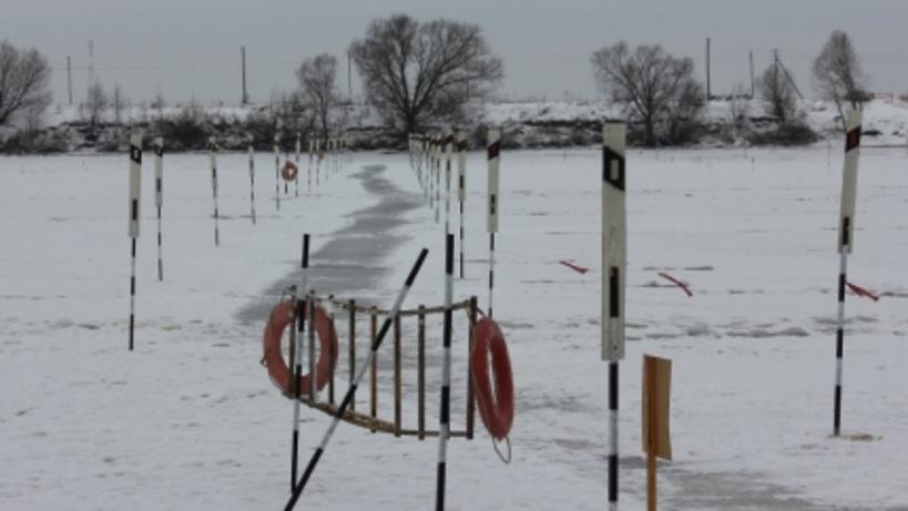 Нареке Киренга введена вэксплуатацию ледовая переправа «Небель— Киренск»