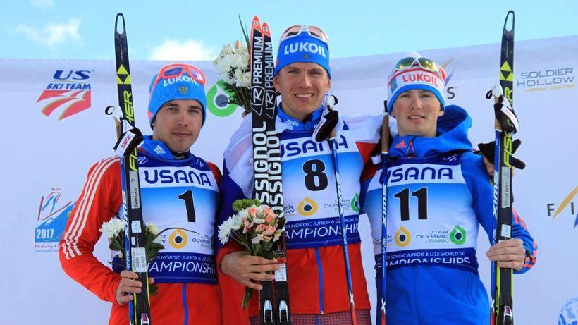 Лыжник Александр Большунов одержал победу гонку напервенстве мира вСША
