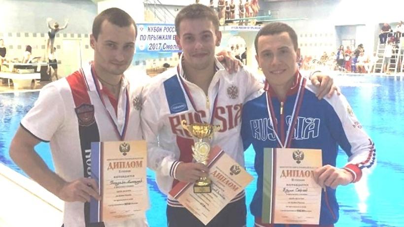Свердловские прыгуны вводу стали призерами чемпионата РФ