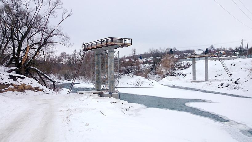Реконструкцию моста через Осетр в Луховицком районе планируют завершить в 2017 году