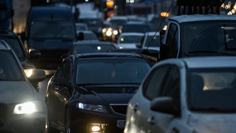На Носовихинском шоссе в Балашихе образовалась 3‑километровая пробка