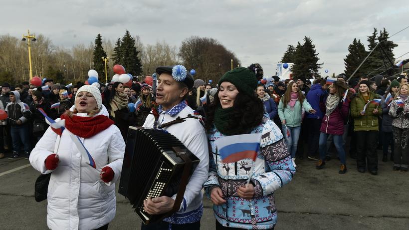 Милиция столицы насчитала 150 тыс. участников митинга-концерта вчесть присоединения Крыма