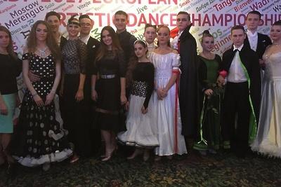 Танцоры Подольска получили золотые медали на чемпионате Европы по артистическому танцу
