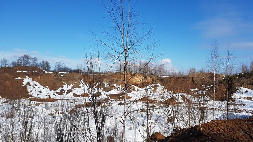 Свалку мусора устроили вотработанном карьере вКлинском районе Подмосковья