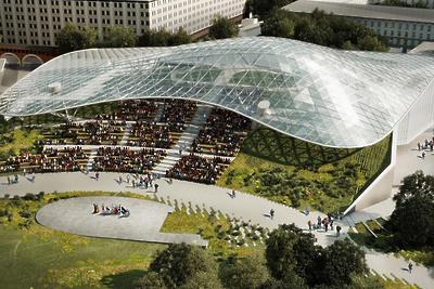 Главный вход в парк «Зарядье» в Москве благоустроят до 1 сентября