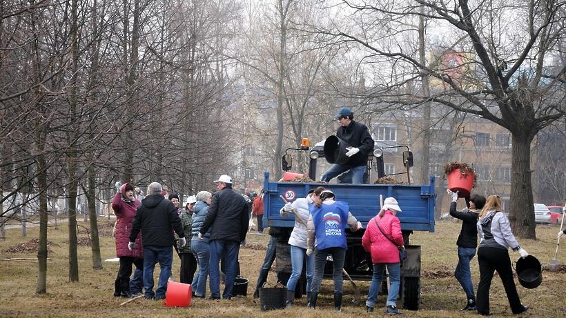 Около 500 000 граждан приняли участие вобщеобластном субботнике вПодмосковье