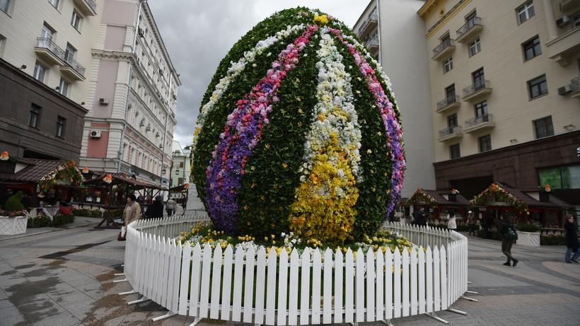 В столице России установят неменее 150 пасхальных арт-объектов