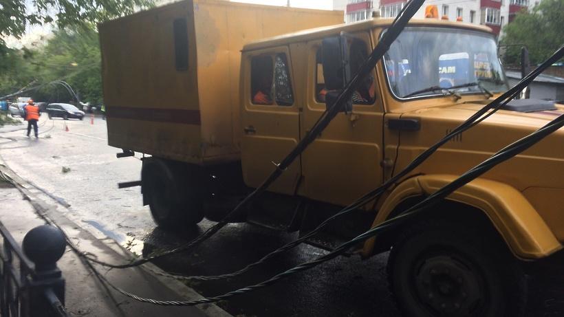 Свыше 150 километров линий электропередачи восстановили в Подмосковье после урагана