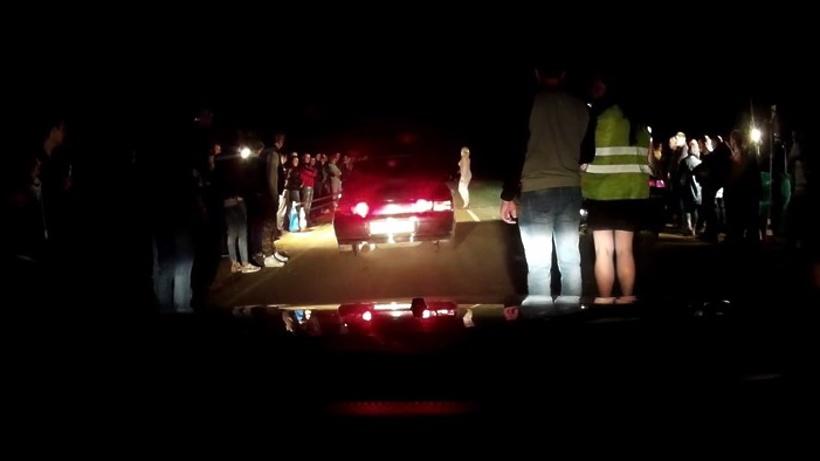 Форсаж вПодмосковье: вweb-сети  размещено  видео незаконных  ночных автомобильных гонок