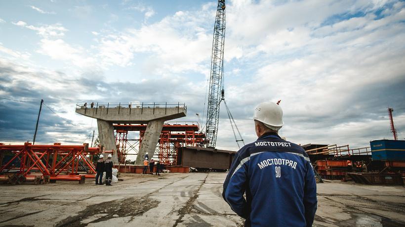 В Дубне начали монтаж металлоконструкций пролетов моста через Волгу: взгляд с воздуха