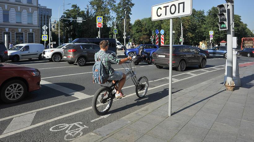 Велополосу наБульварном кольце в российской столице продлили на5,2км