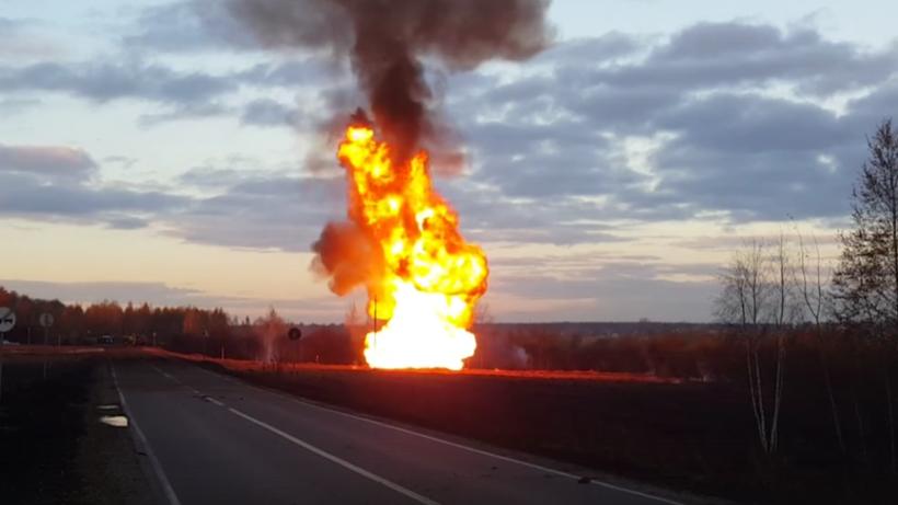 Возгорание нагазопроводе «Средняя Азия Центр» вПодмосковье устранено