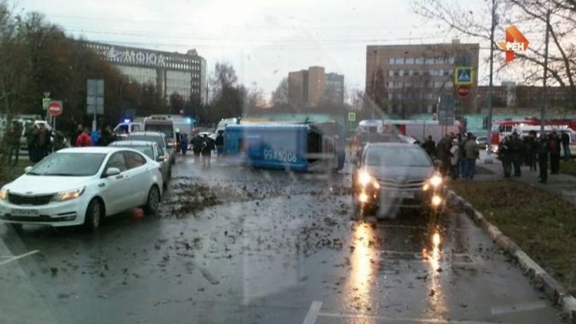 В столице  девять человек пострадали вДТП смаршруткой