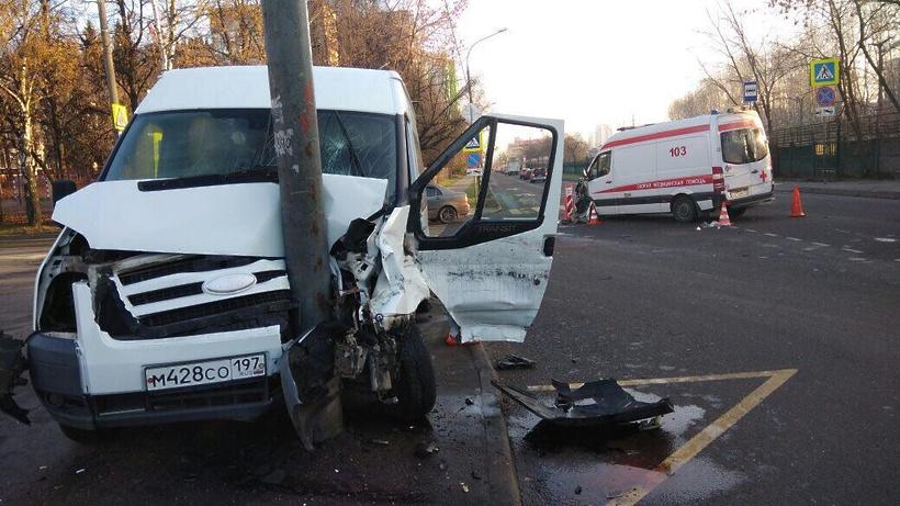 В российской столице  автобус сошкольниками врезался вскорую