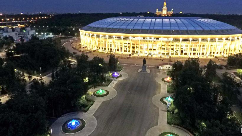 КЧМ-2018 комплекс «Лужники» украсят ландшафтной подсветкой